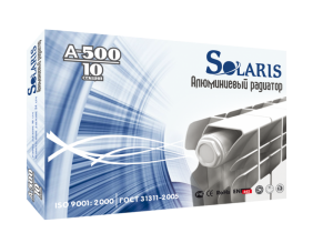 Радиатор отопления алюминиевый Solaris A-500/10